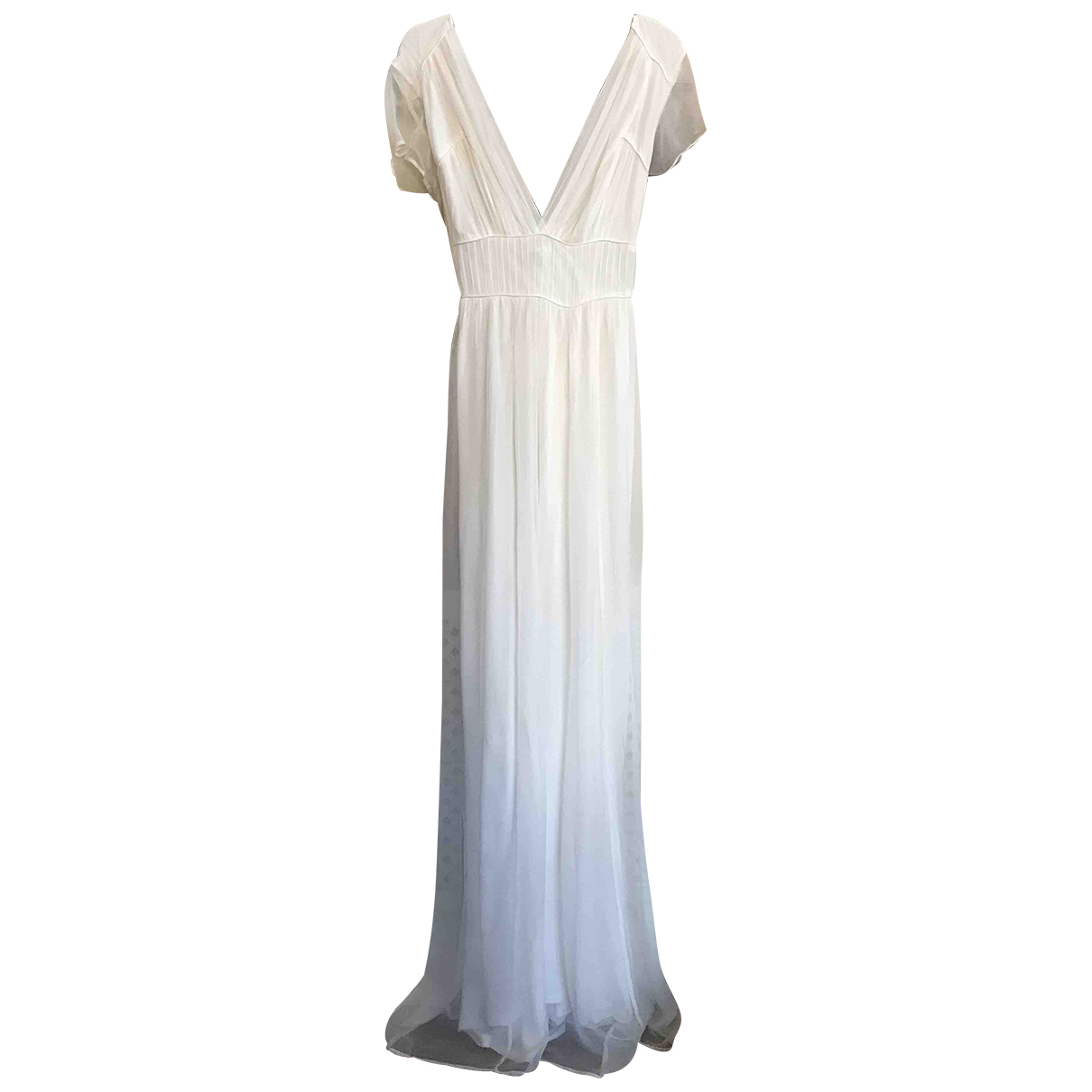 Non Signe / Unsigned \N Kleid in  Ecru Baumwolle - Elasthan