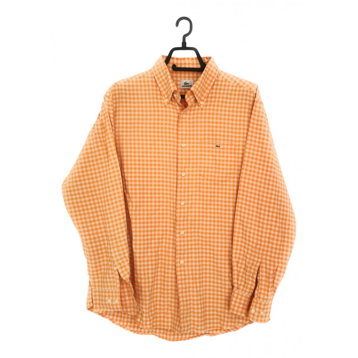 Lacoste \N Orange Cotton Shirts for Men L International