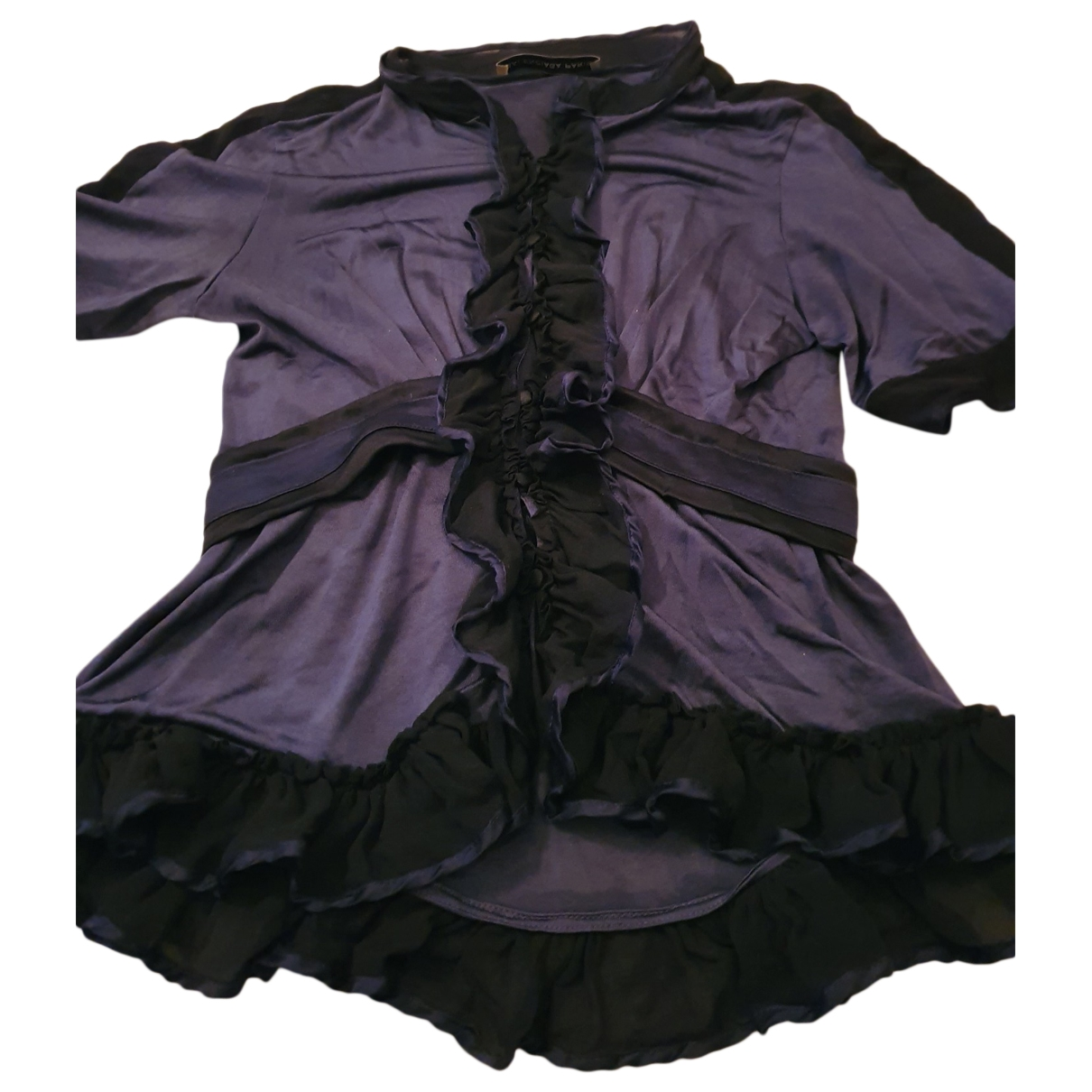 Balenciaga \N Blue Silk  top for Women 36 FR