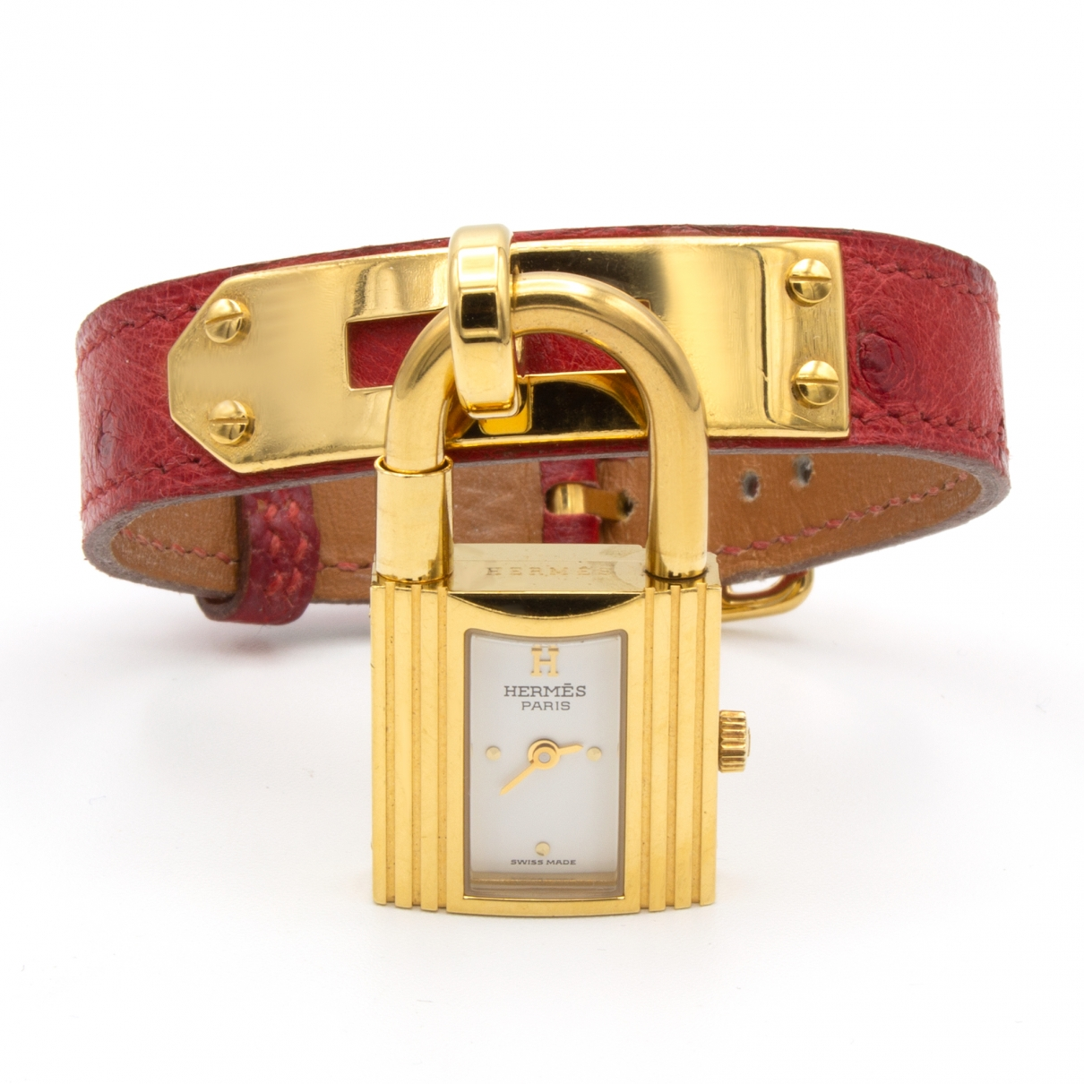 Hermes Kelly Uhr in  Gold Vergoldet