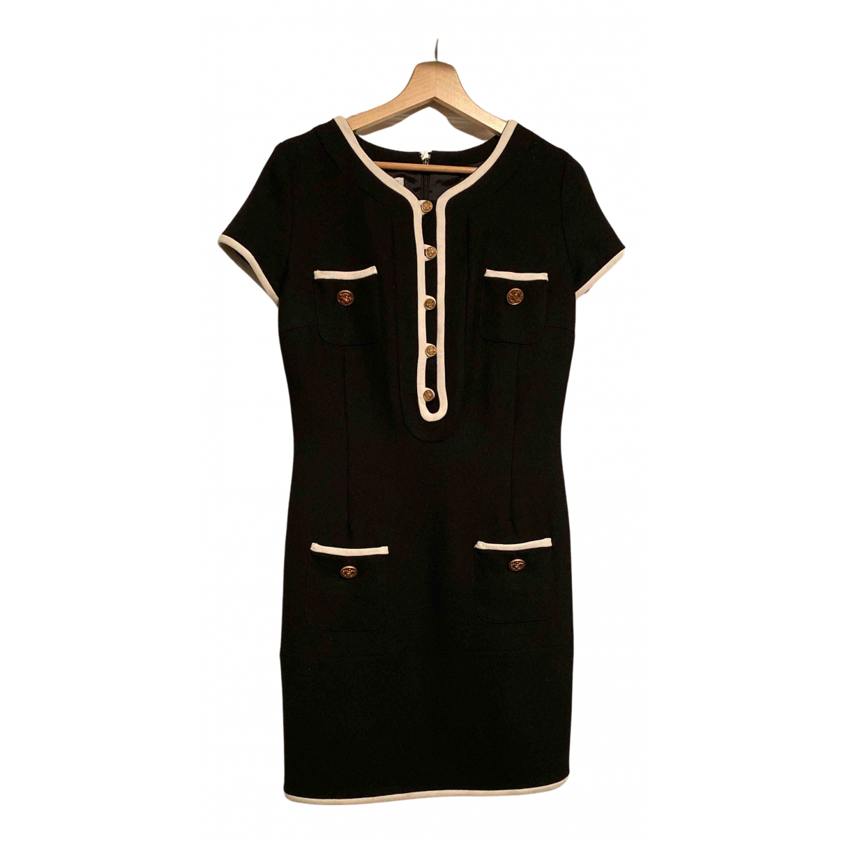Non Signé / Unsigned N Black Wool dress for Women 36 FR