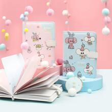 1 Stueck Zufaelliges Notizbuch mit Karikatur Maus Muster Decke