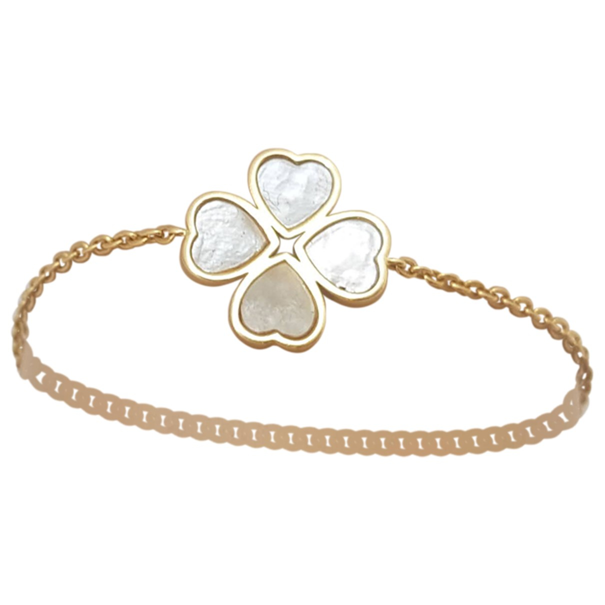 - Bracelet Motifs Coeurs pour femme en or jaune - jaune