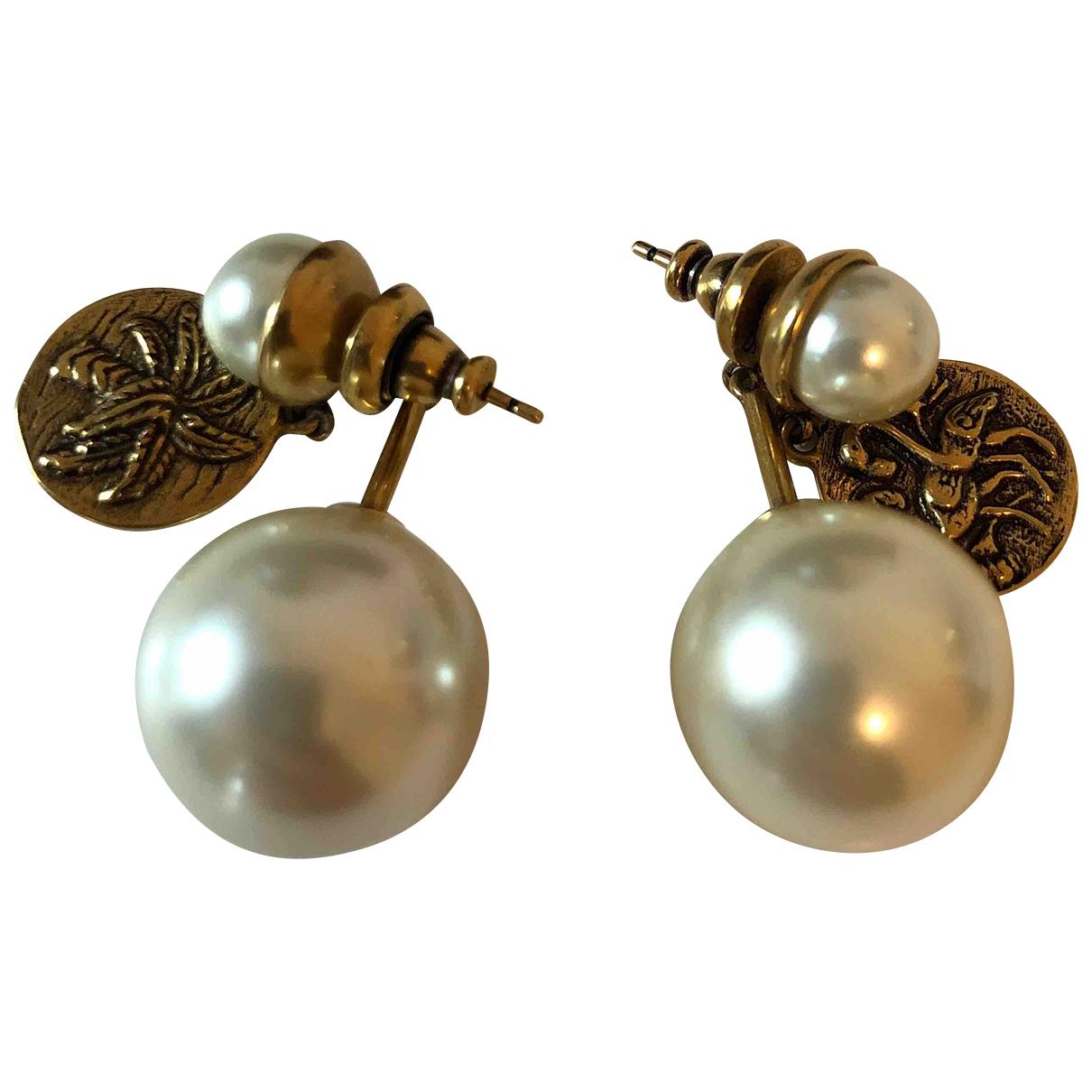 Dior \N White Metal Earrings for Women \N