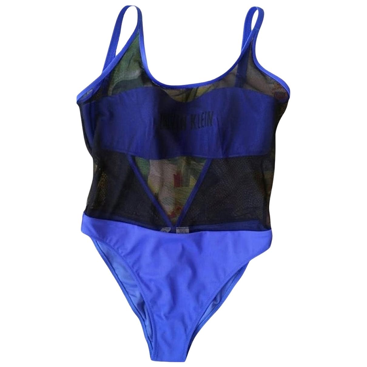 Calvin Klein \N Badeanzug in  Blau Synthetik