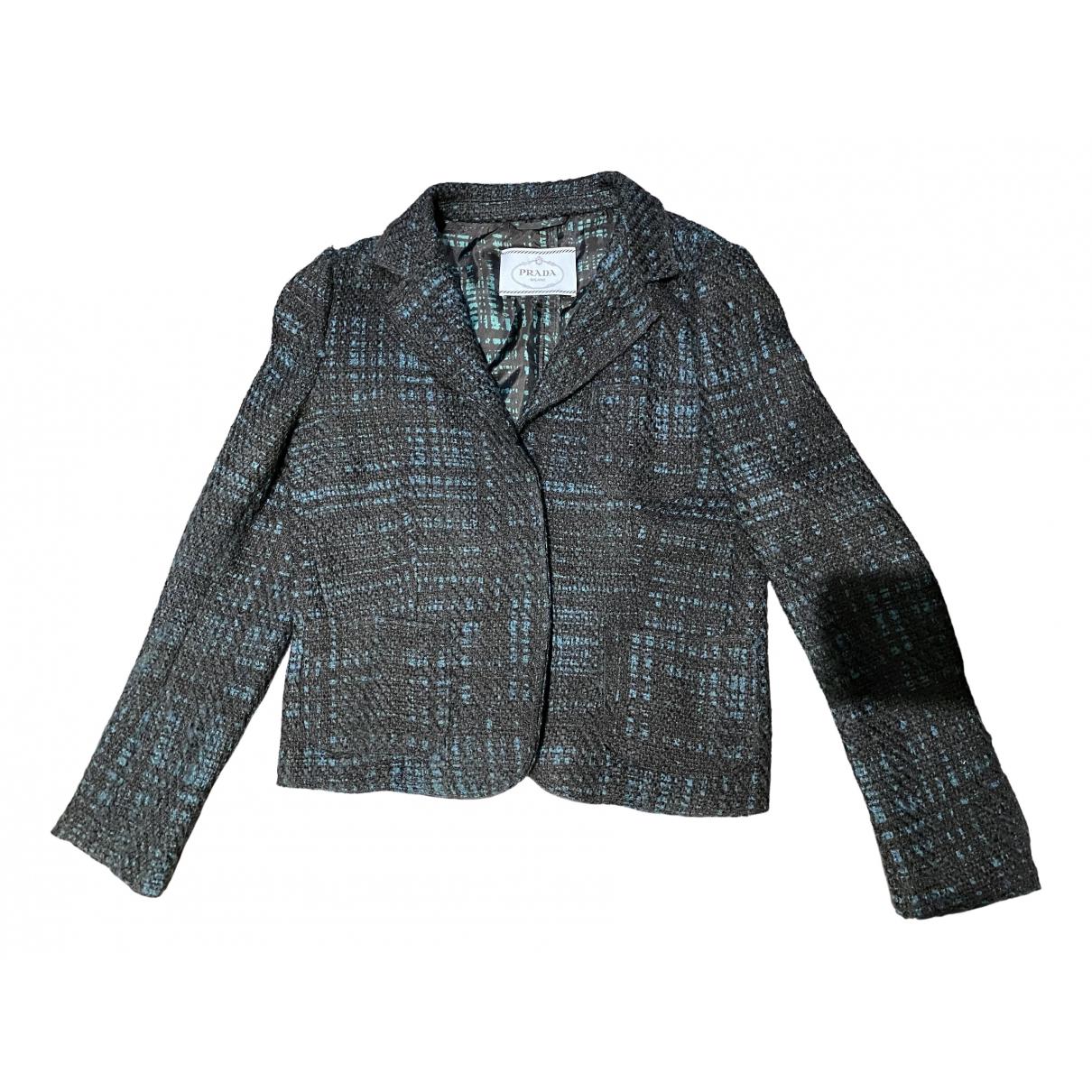Prada \N Jacke in  Gruen Tweed