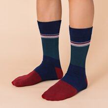 Men Color Block Socks