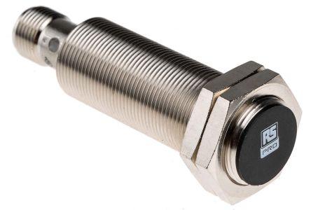 RS PRO M18 x 1 Inductive Sensor - Barrel, PNP-NO Output, 5 mm Detection, IP67, M12 - 4 Pin Terminal