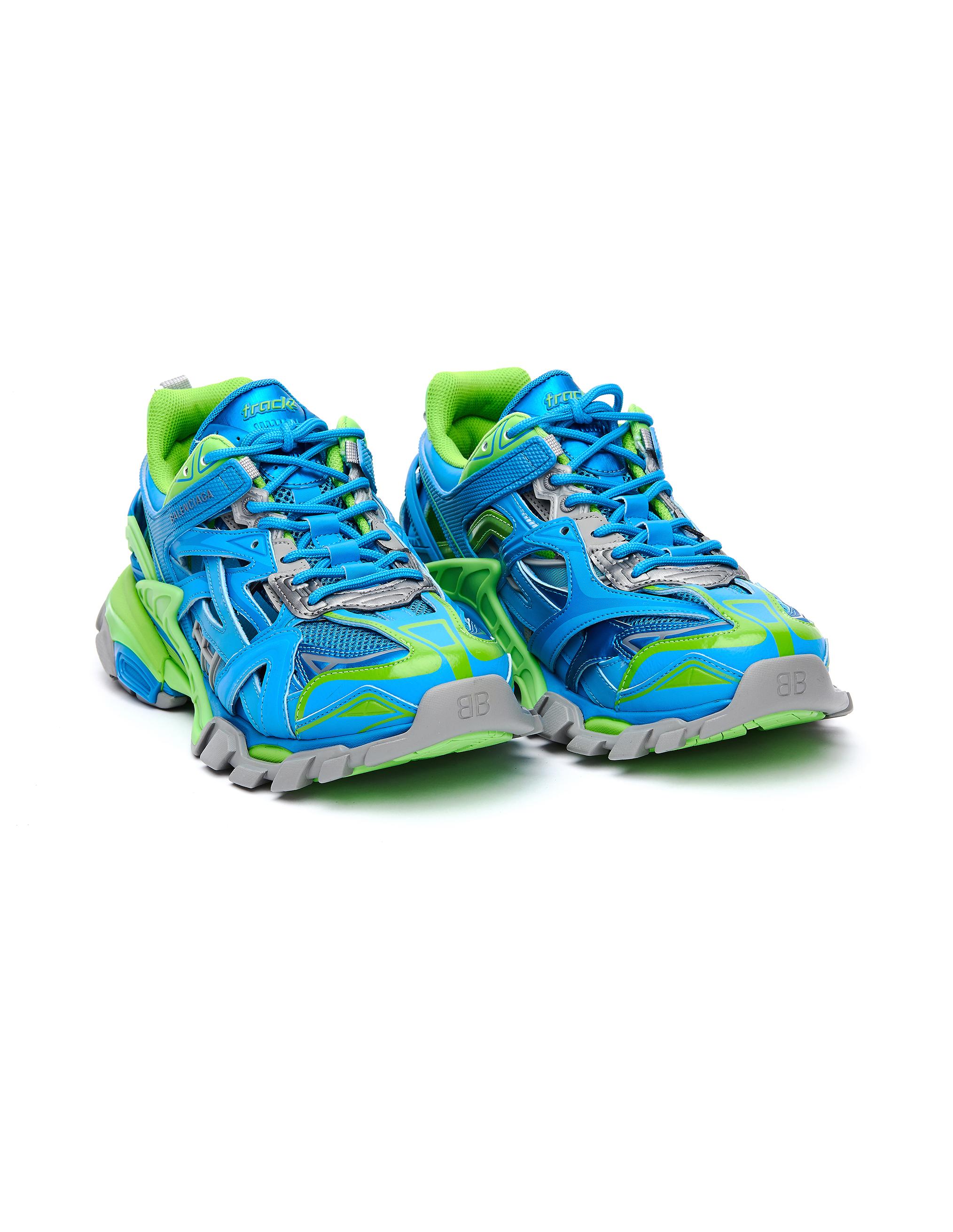 Balenciaga Blue & Green Track 2 Sneakers