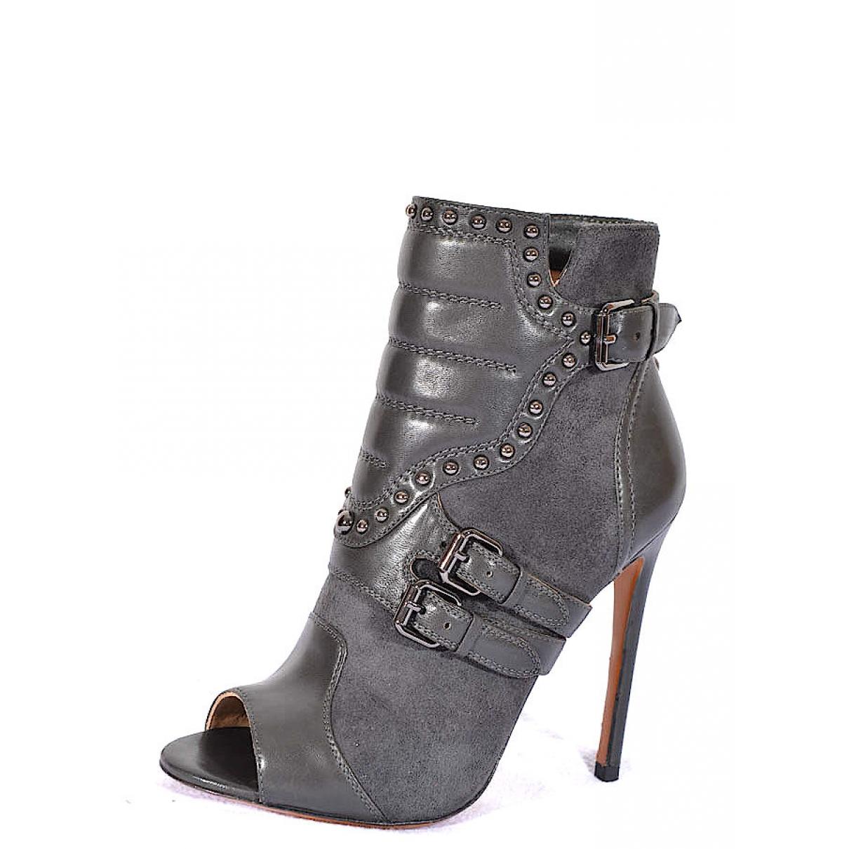 Gianmarco Lorenzi - Boots   pour femme en suede - gris