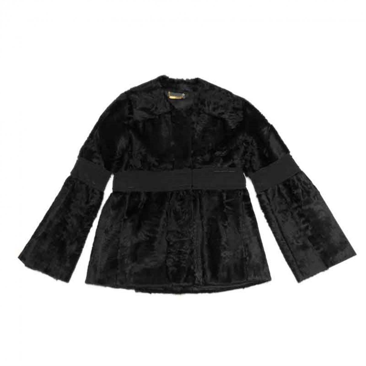 Alberta Ferretti - Veste   pour femme en fourrure - noir