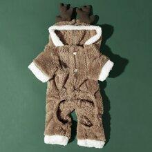 Christmas Deer Dog Jumpsuit