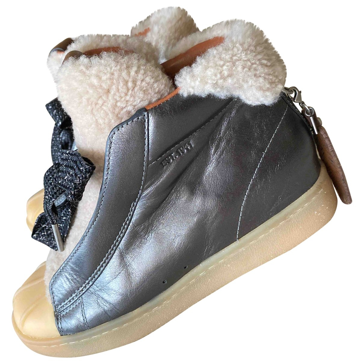 Coach \N Grey Leather Boots for Women 36 EU