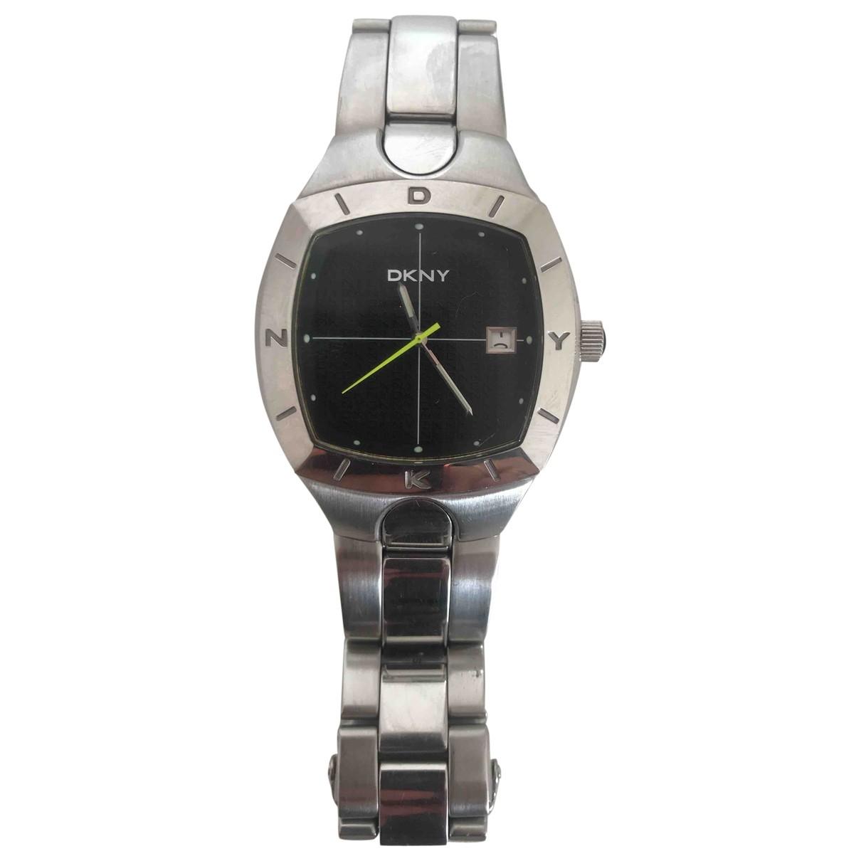 Dkny \N Uhr in  Silber Stahl