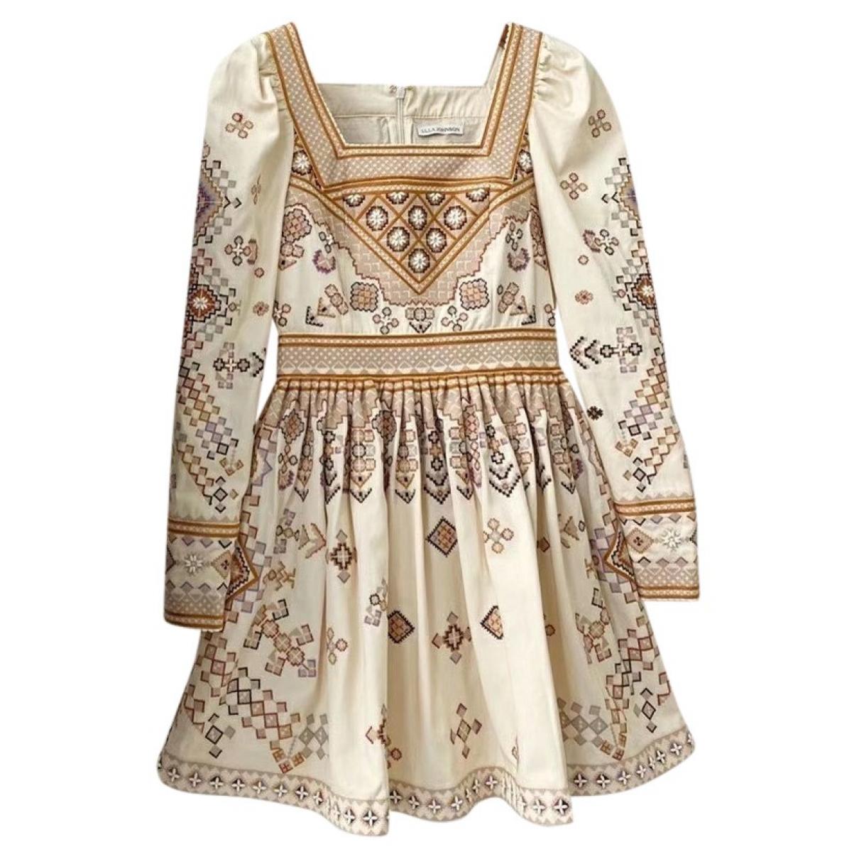 Ulla Johnson - Robe   pour femme en coton - ecru
