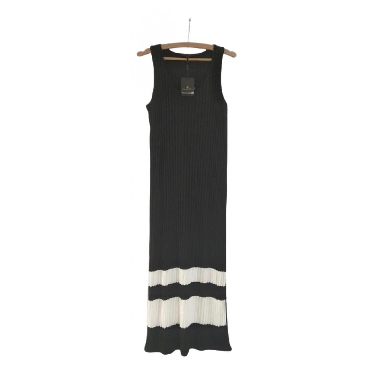 Massimo Dutti \N Kleid in  Schwarz Viskose