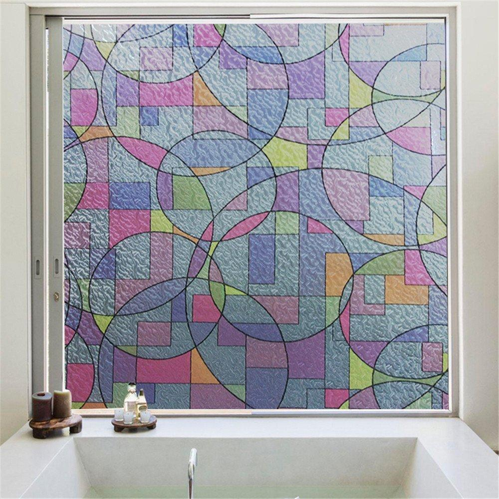 45cmx2m Frosted Glass Window Film Privacy Self Adhesive Sticker Bedroom Bathroom
