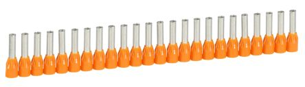 Legrand , Starfix Insulated Crimp Bootlace Ferrule, 12mm Pin Length, 3.2mm Pin Diameter, 4mm² Wire Size, Orange