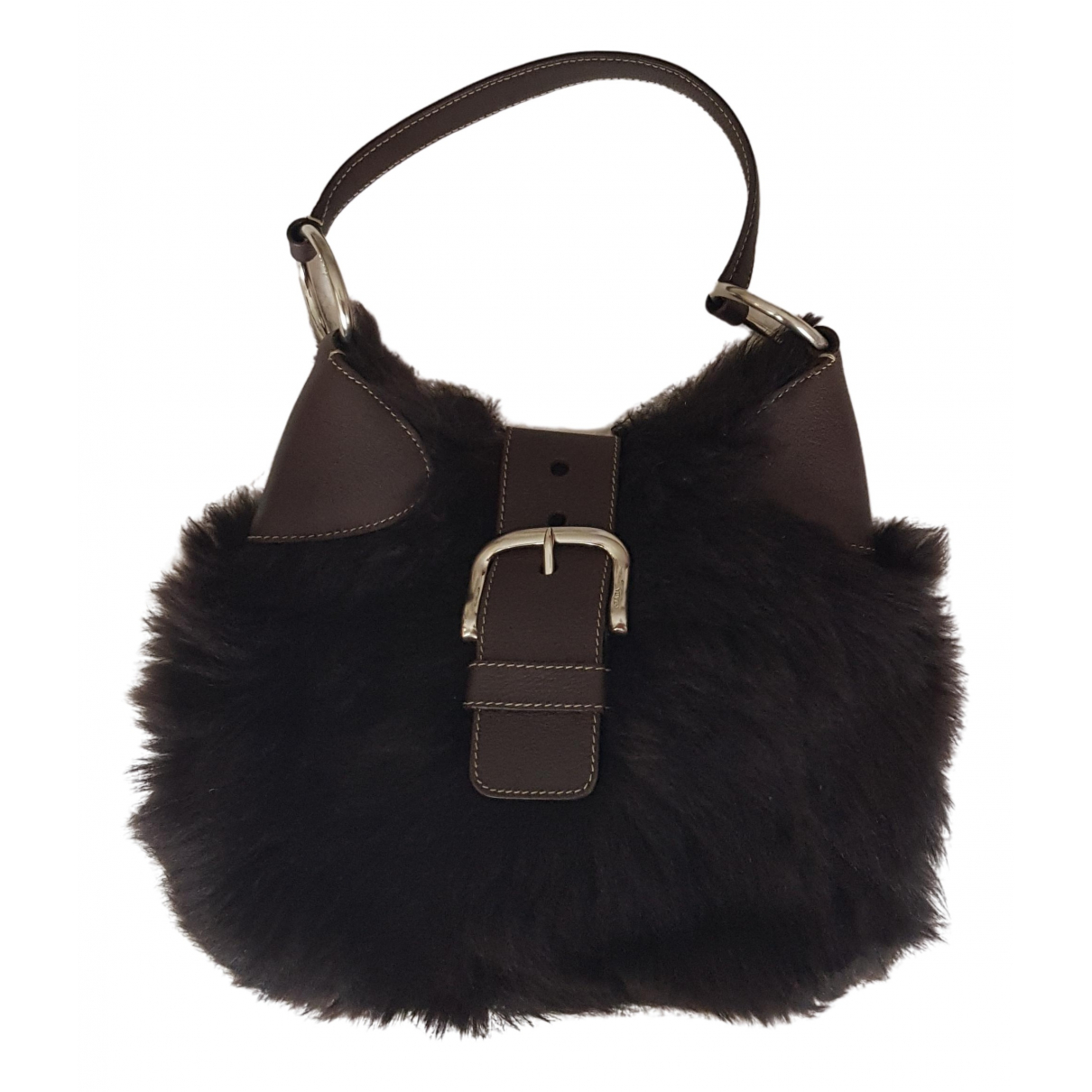 Prada \N Handtasche in  Braun Schaf