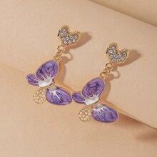 Butterfly Decor Drop Earrings