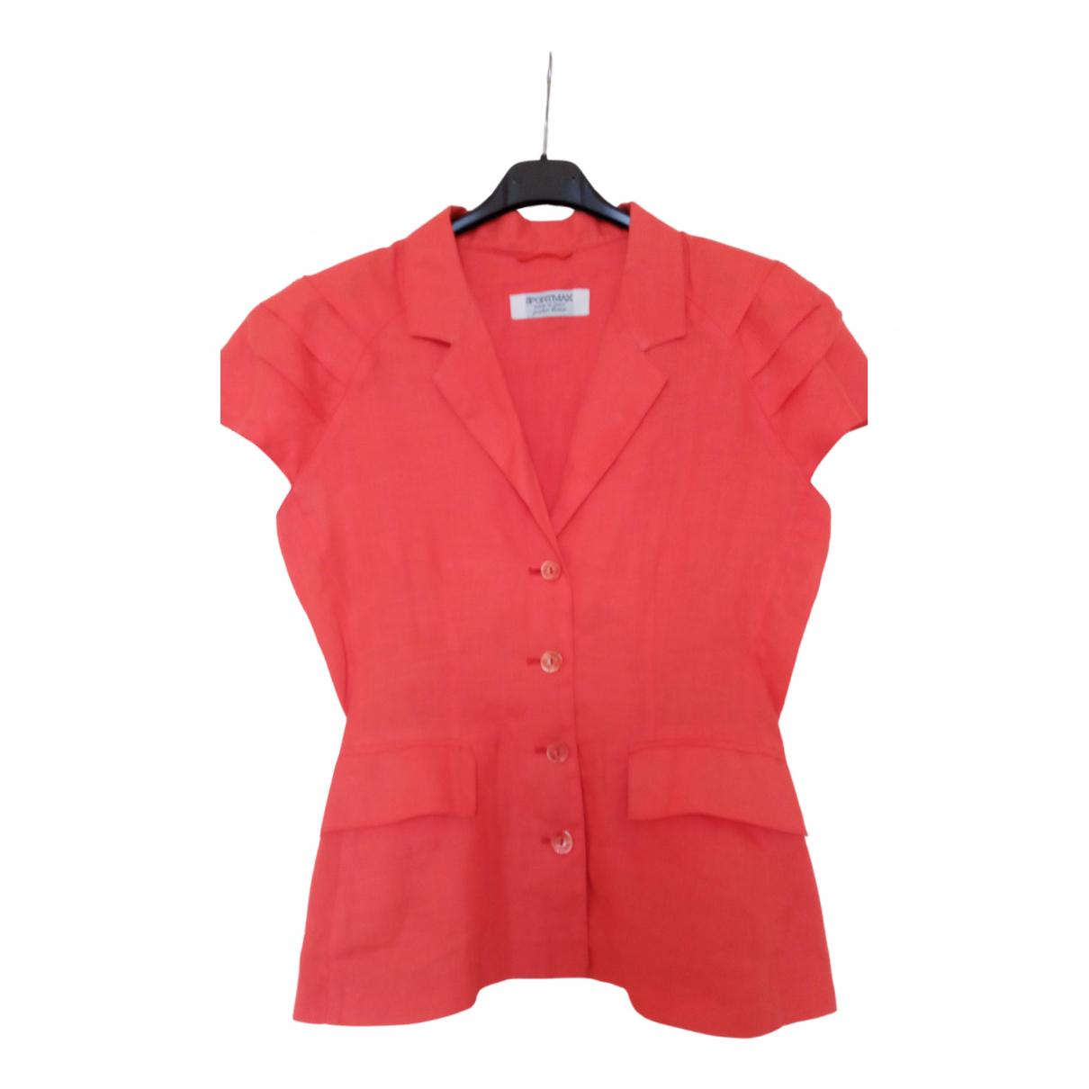 Sport Max - Veste   pour femme en lin - orange