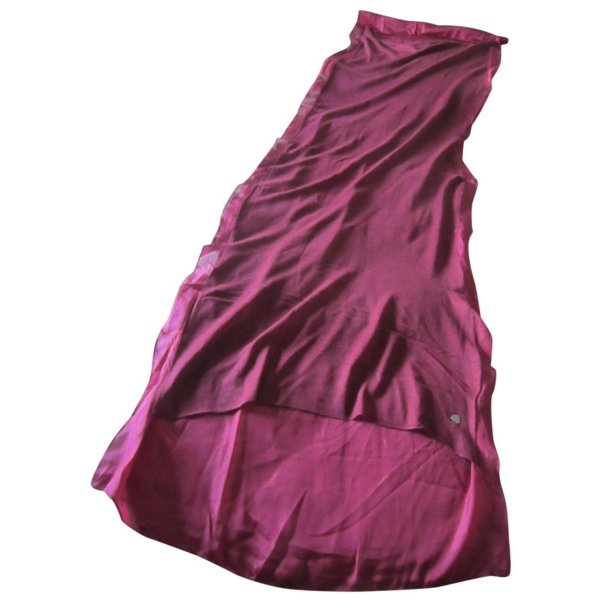 Twin Set - Foulard   pour femme en soie - bordeaux