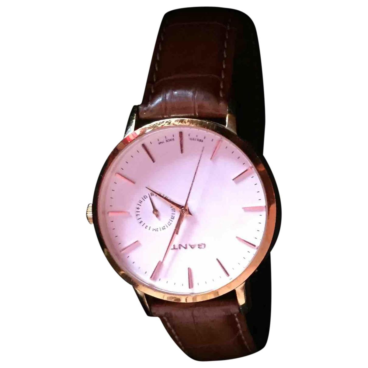 Gant \N Uhr in  Braun Stahl