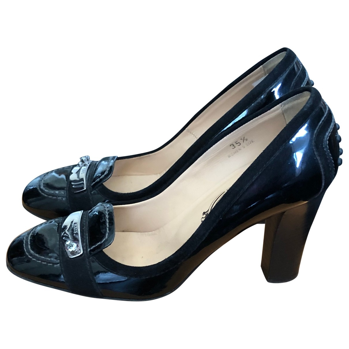 Tod's \N Black Patent leather Heels for Women 35.5 IT