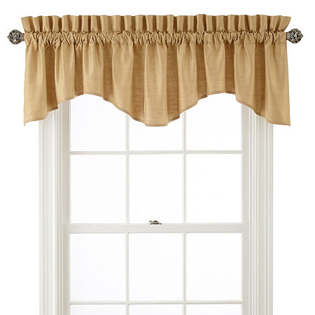 JCPenney Home Supreme Rod-Pocket Scallop Valance, One Size , Yellow