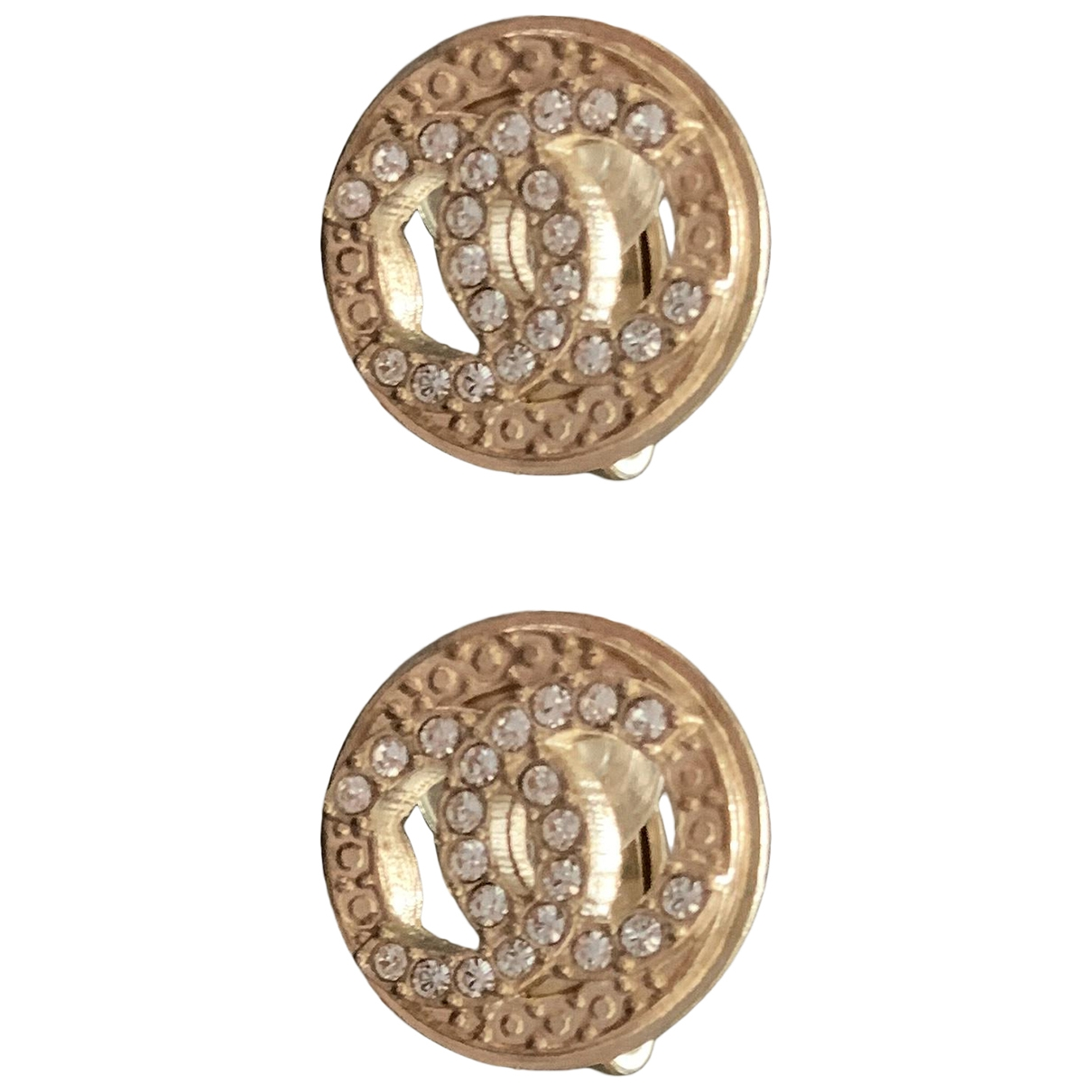 Chanel CC OhrRing in  Gold Stahl