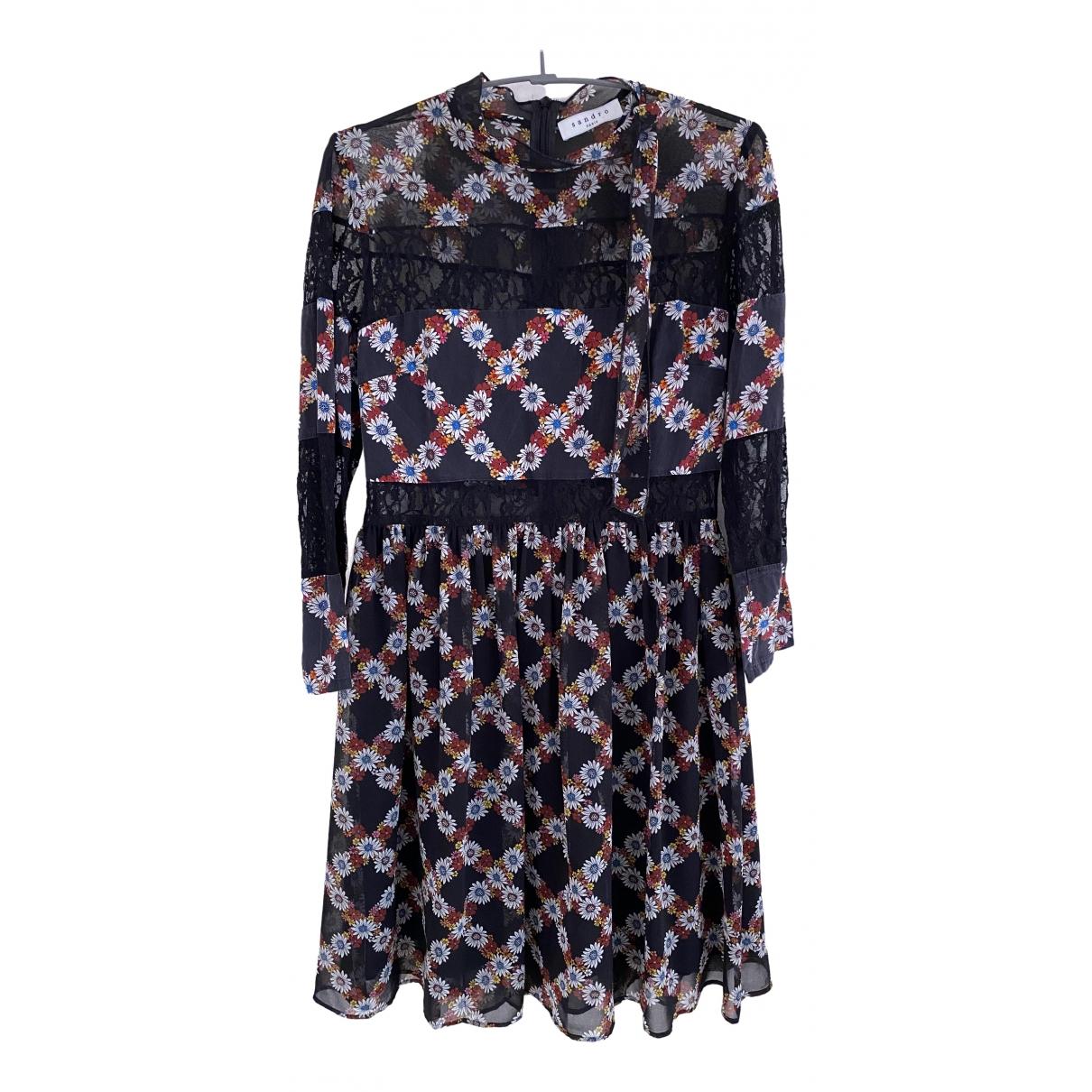 Sandro Fall Winter 2019 Multicolour Silk dress for Women 36 FR