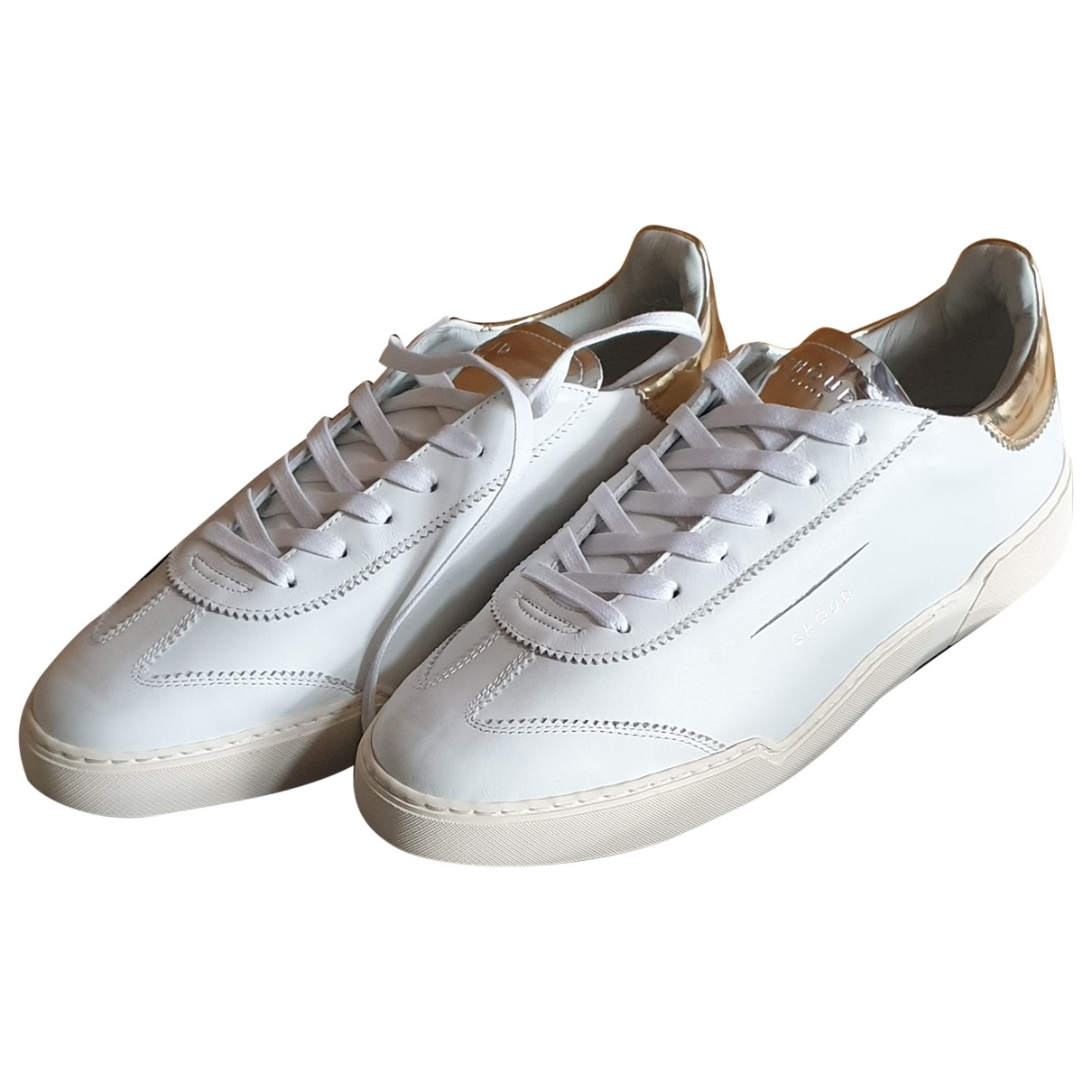 Ghoud \N White Leather Trainers for Men 41 EU