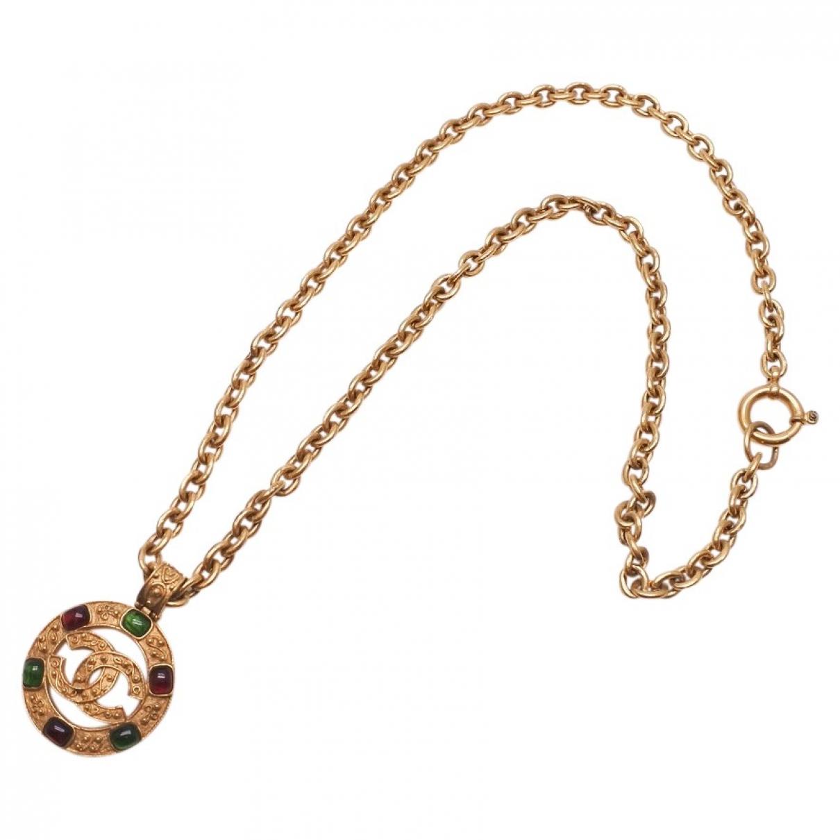 Chanel CC Halskette in  Gold Vergoldet