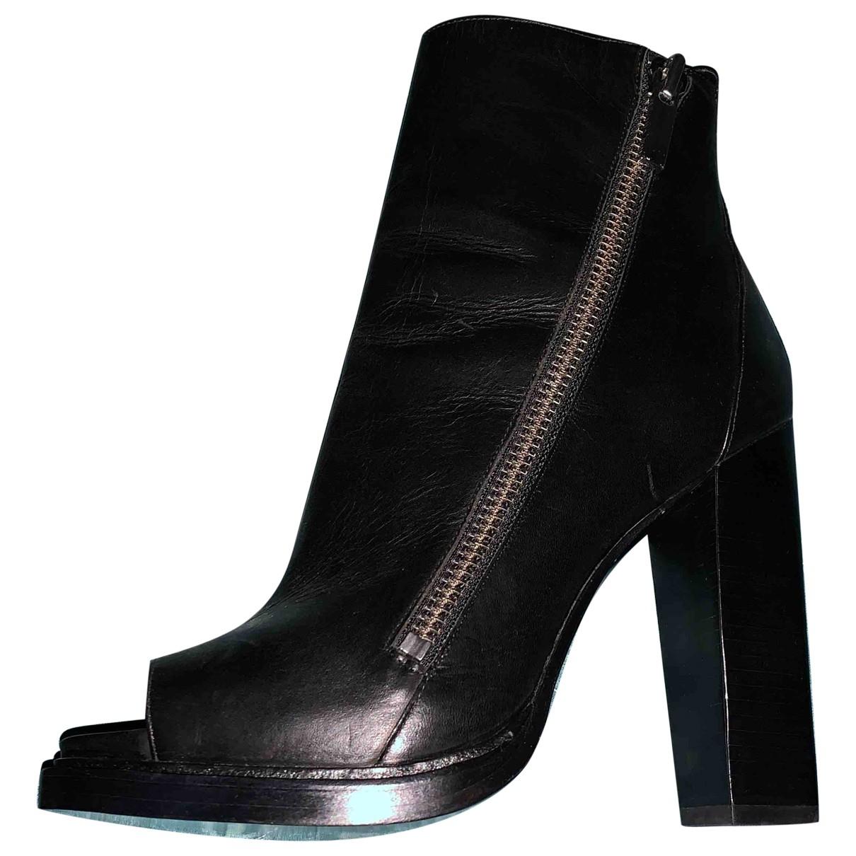 Rachel Zoe - Bottes   pour femme en cuir - noir