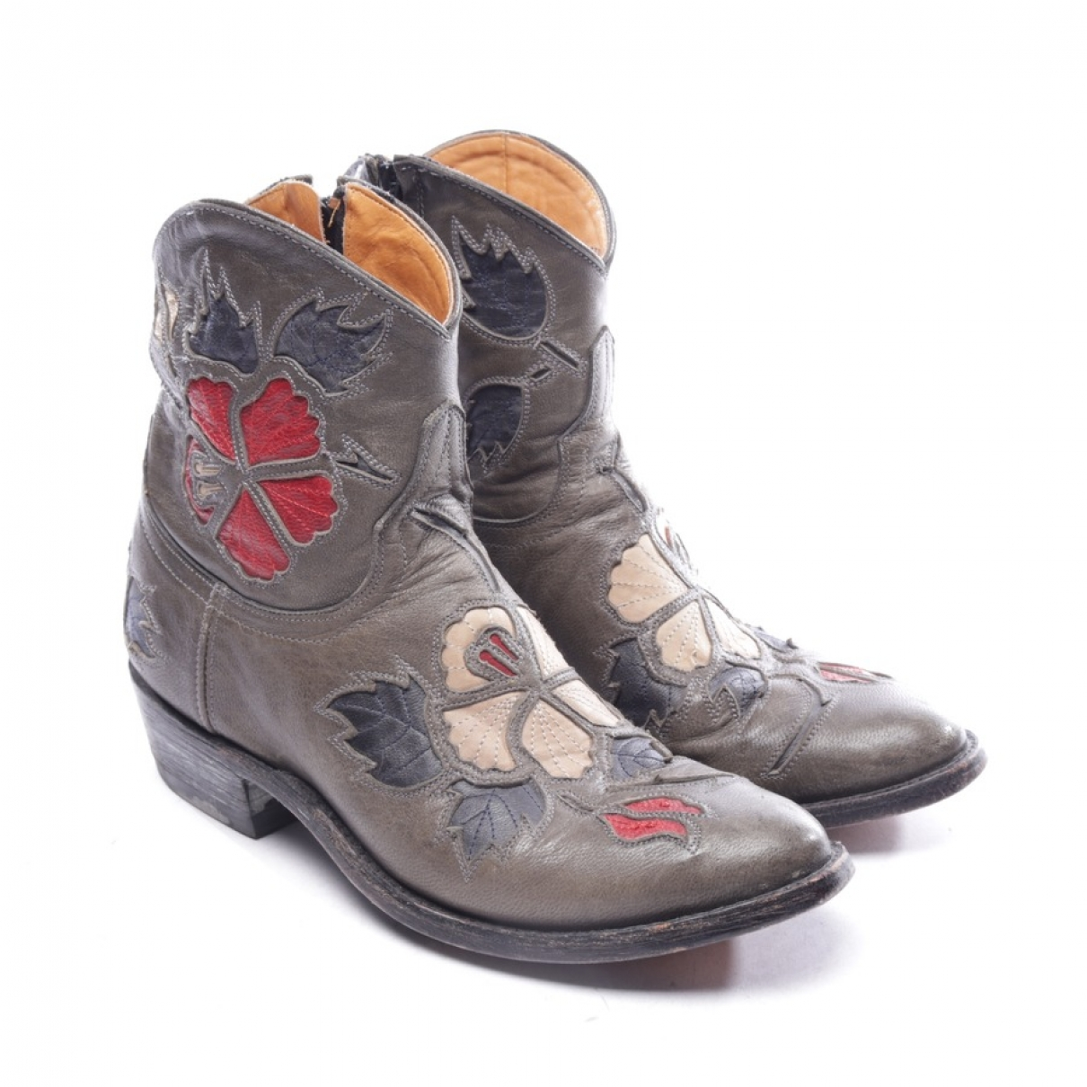 Mexicana - Boots   pour femme en cuir - multicolore