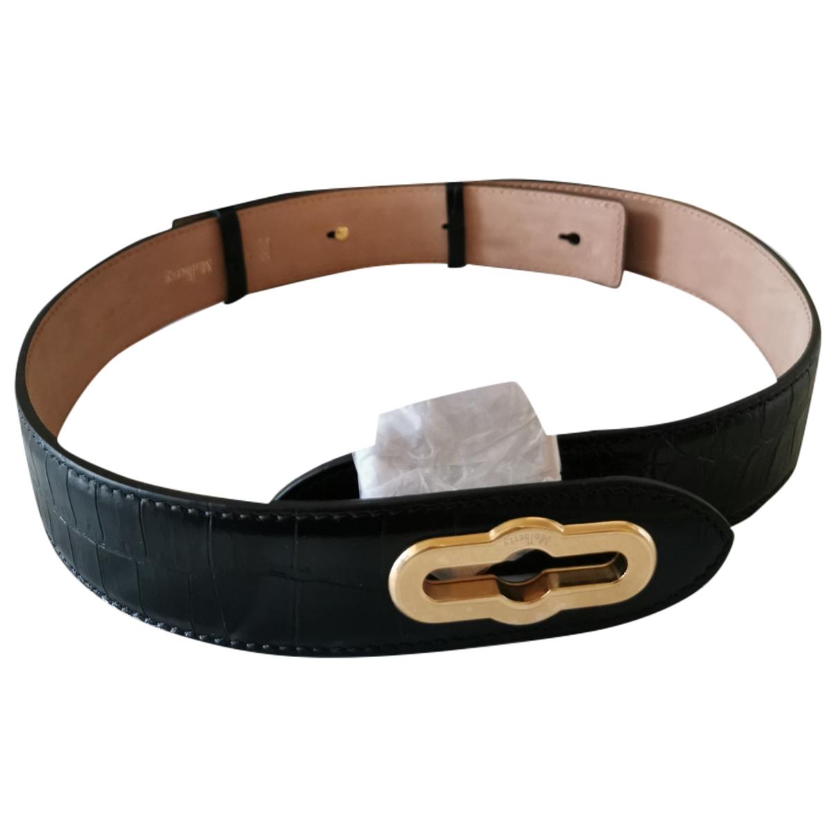 Mulberry \N Black Leather belt for Women M International