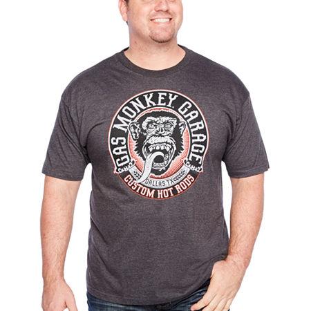 Big and Tall Gas Monkey Propaganda Mens Crew Neck Short Sleeve Graphic T-Shirt, 4x-large Tall , Black