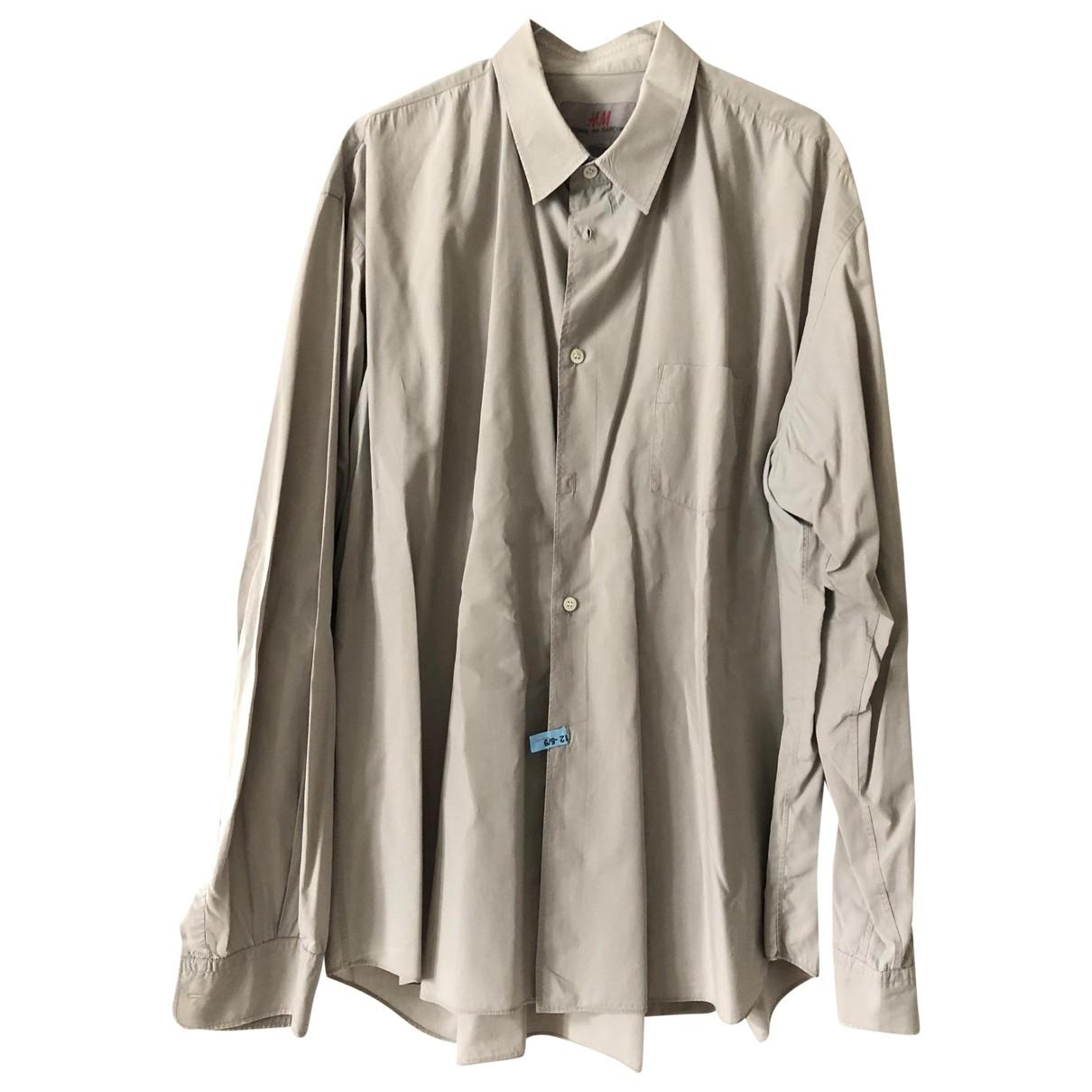 Comme Des Garcons X H&m - Chemises   pour homme en coton - beige