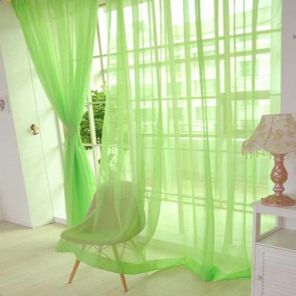 Elegant Pure Colored Light Green Custom Sheer Curtain