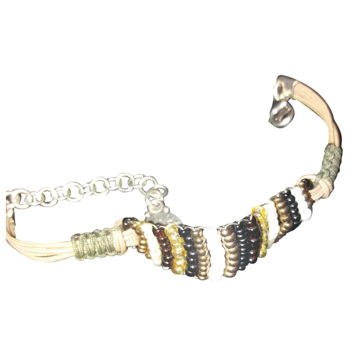 Non Signe / Unsigned \N Armband in  Gold Perlen