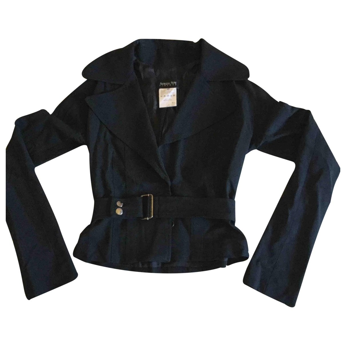Patrizia Pepe \N Black Wool jacket for Women 40 IT