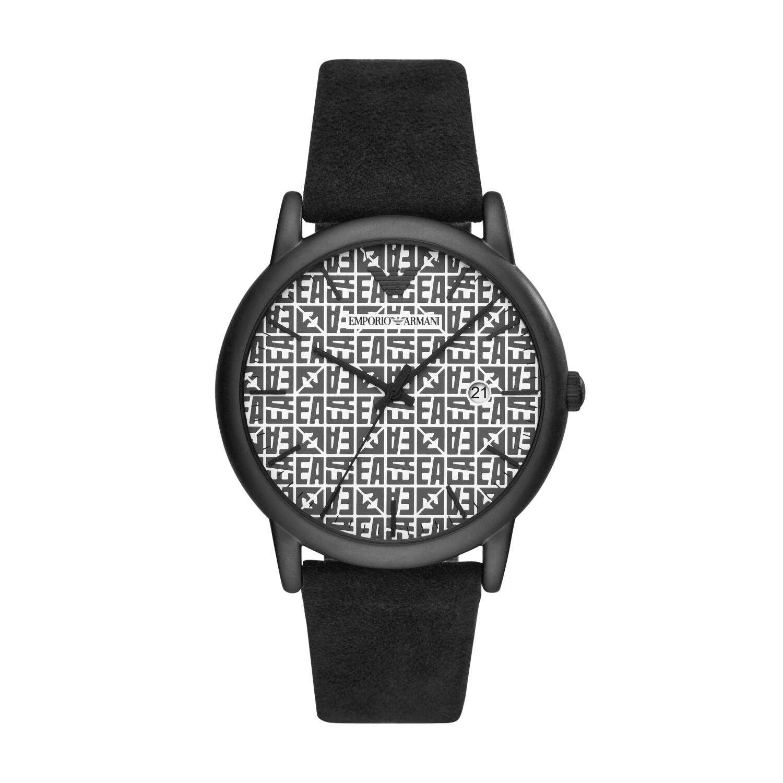 Emporio Armani Men's Luigi AR11274 Black Leather Quartz Fashion Watch