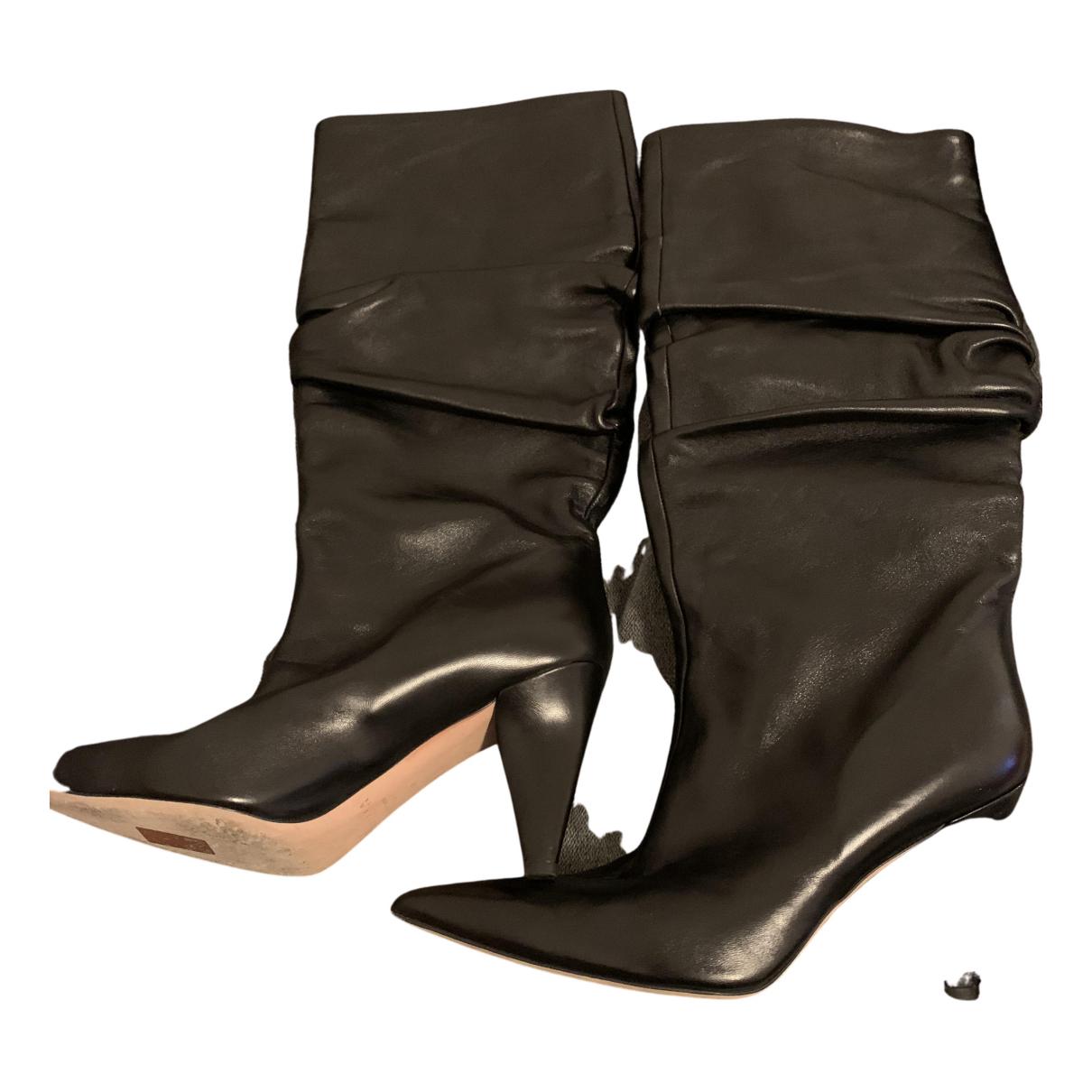 Unutzer - Bottes   pour femme en cuir - noir