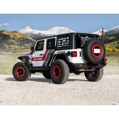 Road Armor Stealth Mid Width Rear Bumper with Tire Carrier (Bare) - 5182R1Z-TC