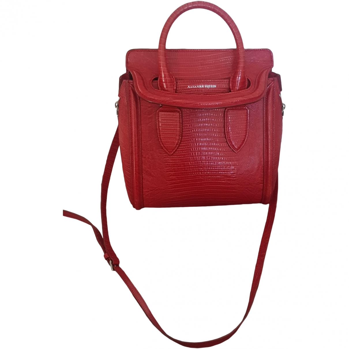Alexander Mcqueen Heroine Chain Red Leather handbag for Women \N