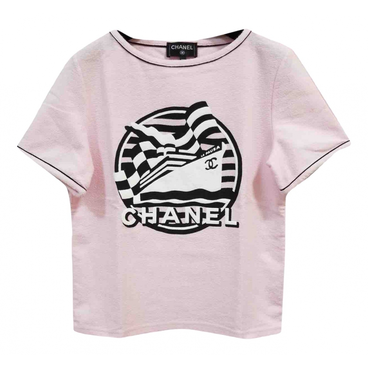 Chanel \N Pink Cotton  top for Women 34 FR