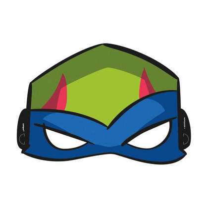 Rise of the TMNT Party Masks, 8ct For Birthday Party
