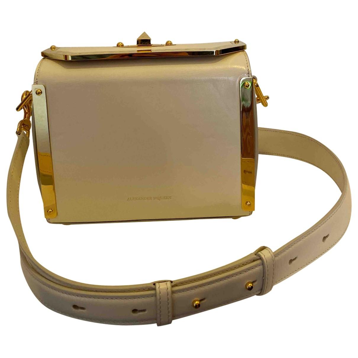 Alexander Mcqueen Box 16 White Leather handbag for Women \N