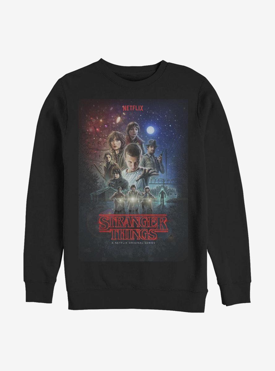 Stranger Things Classic Illustrated Poster Sweatshirt