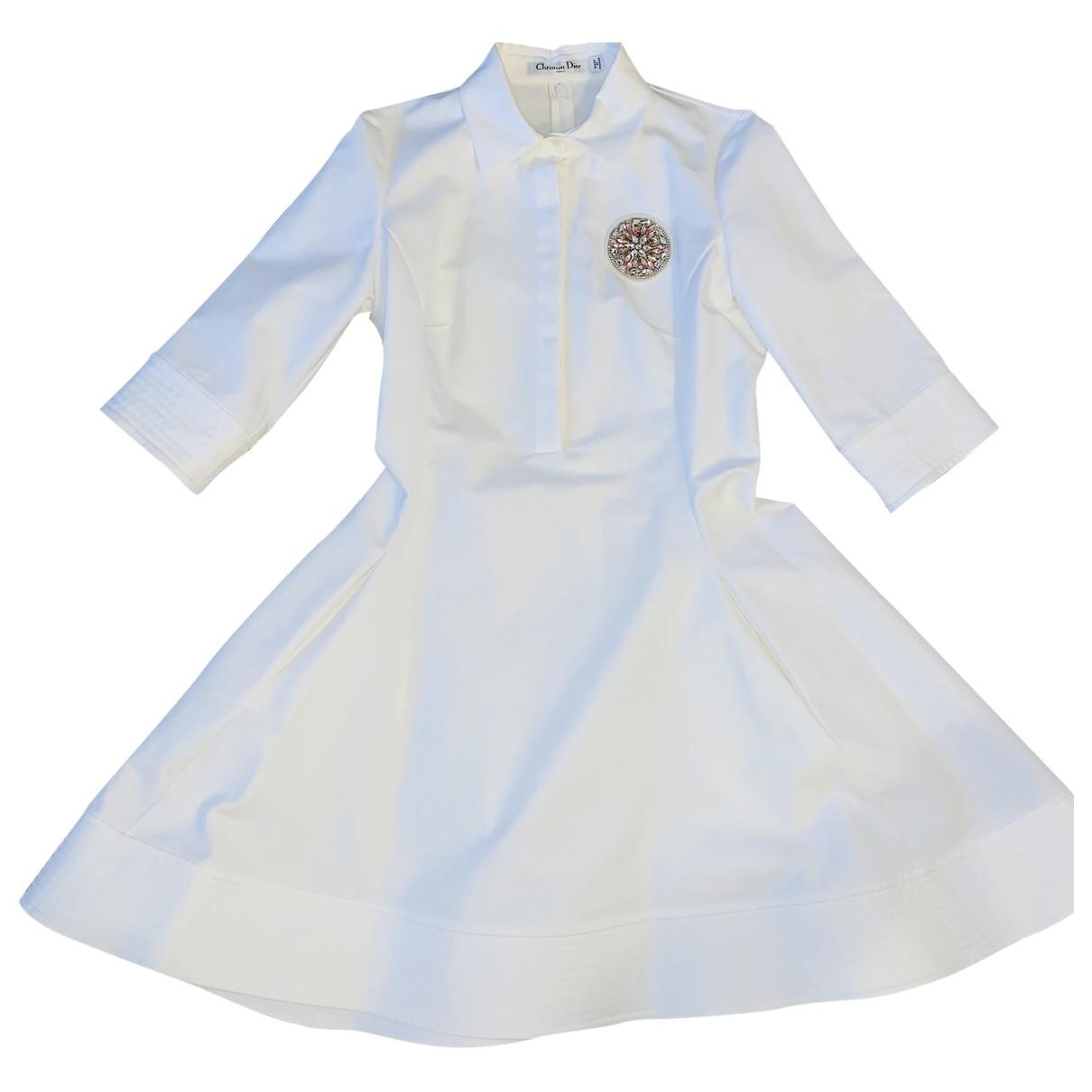 Dior \N Kleid in  Weiss Baumwolle - Elasthan